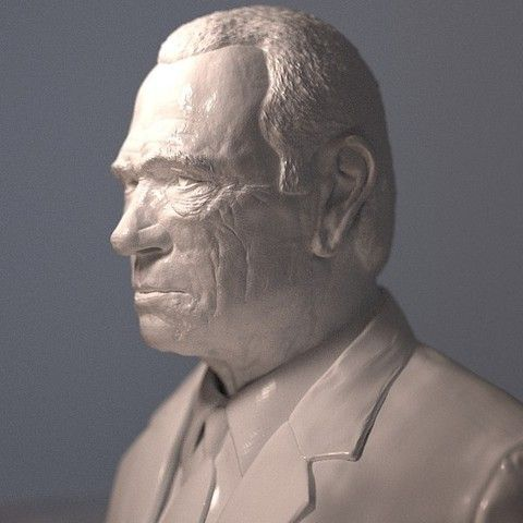 3D TOMMY LEE JONES, thierry3D Download on https://cults3d.com #3Dprinting