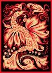 phoenix papier snijden patroon vector