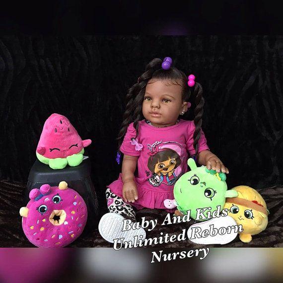 AA bebés renacidos, African American, Biracial, hecho a la medida, renacida de la costumbre de gatito Kit, bebé reborn niño, vida de AA como bebé