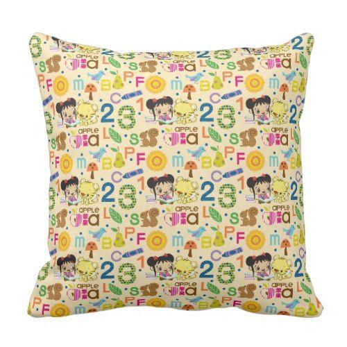 Ni Hao Kai-Lan | Kai-Lan & Rintoo Pattern Throw Pillow