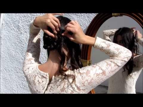 M Dos Peinados de Flamenca #Feria2014 - YouTube
