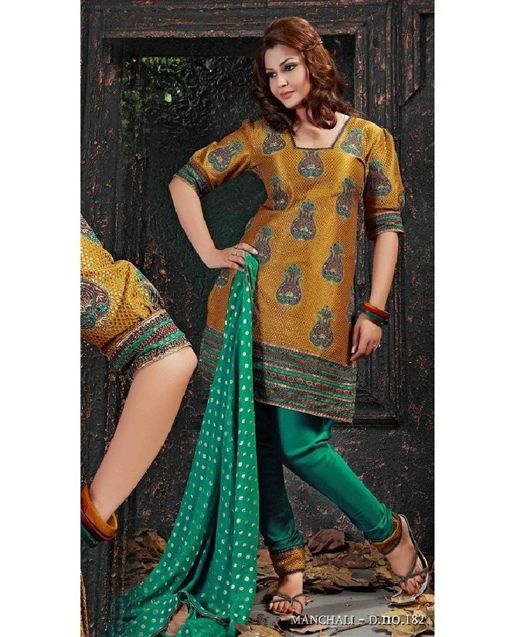 Orange Nylon Polyster Woven Jaquard Fabric Salwar