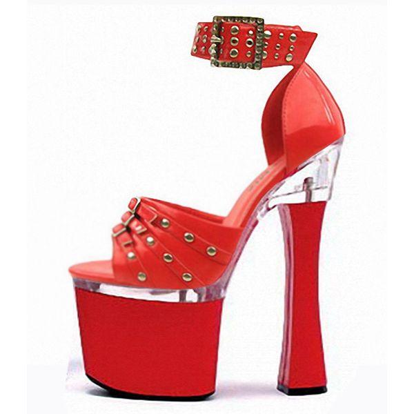 Frauen Sandalen Neu eingetroffen Thick High Heel Schuhe Bottom Pumps Sandalen Mit Nieten …