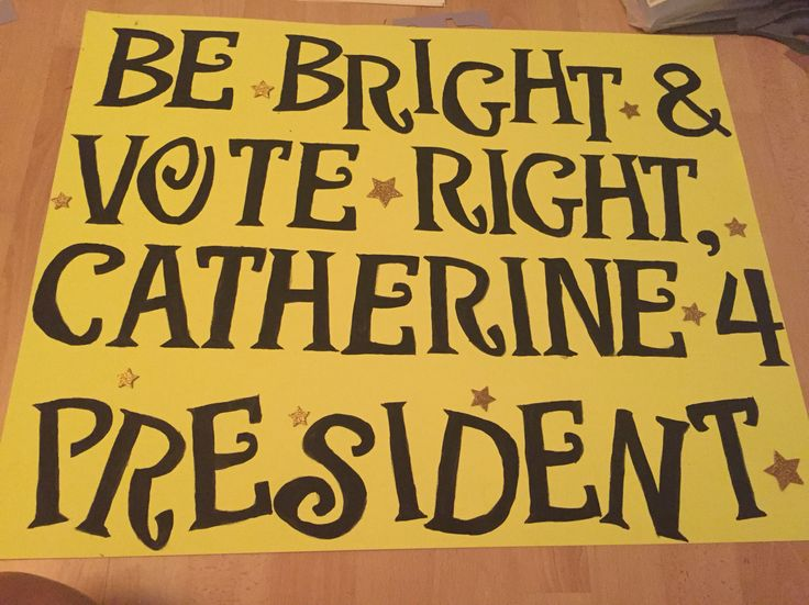 Another campaign poster | Student Council Poster Ideas ...