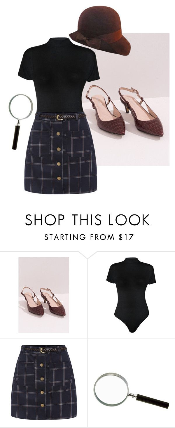 """""""The Girl Detective"""" by sarahkparker ❤ liked on Polyvore featuring Front Row Shop, WearAll, women's clothing, women, female, woman, misses, juniors, Halloween and Costume"""