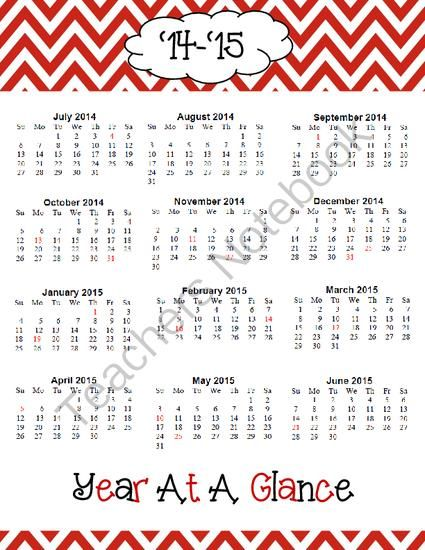 Year Calendar At A Glance : Year at a glance from stonecentralresources on