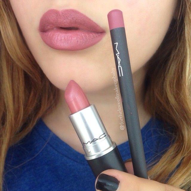 MAC Lipstick in Brave & MAC Lipliner in Soar.