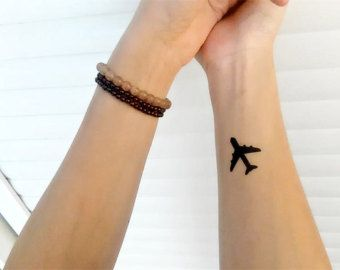 airplane tattoo – Etsy