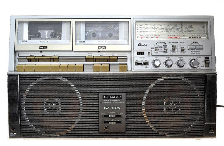 Sharp GF-525 GF-525H  Stereo Radio Tape Recorder, Ghettoblatster Boom Box
