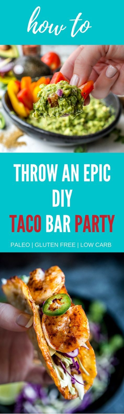 You're gonna want these tips and recipes for your next diy taco bar party! Perfect for gathering with your friends on Cinco de Mayo or any Taco Tuesday during the year!