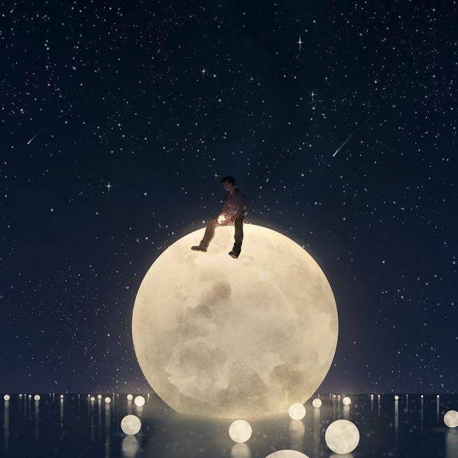 يليق بك أن تسطـع عالي ا كالقـمر لايليق بك أن تعيش فـاشل Imagination Illustration Moon Child Instagram