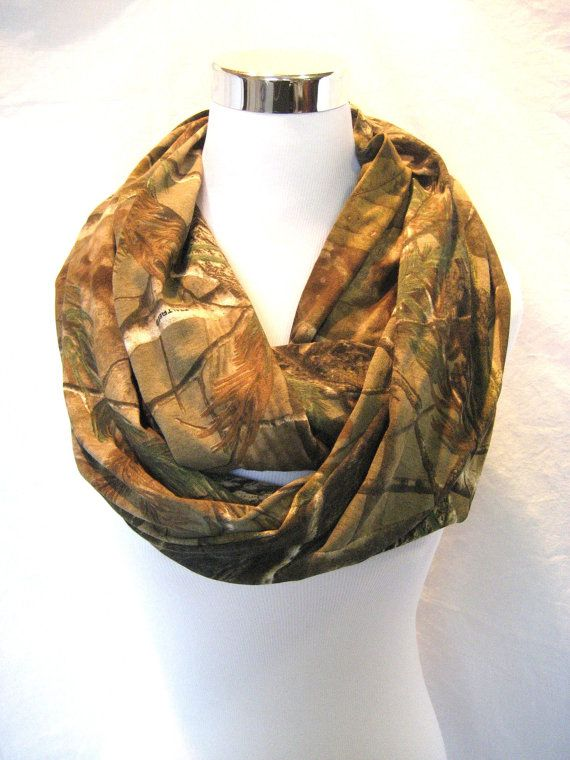 Long Realtree Camo Jersey Knit Infinity Scarf - ChevronScarf on Etsy, $25.00
