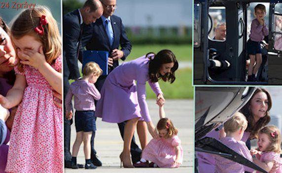 Královské zlobění: Princeznička Charlotte se vztekala na letišti, George uchvátil vrtulník