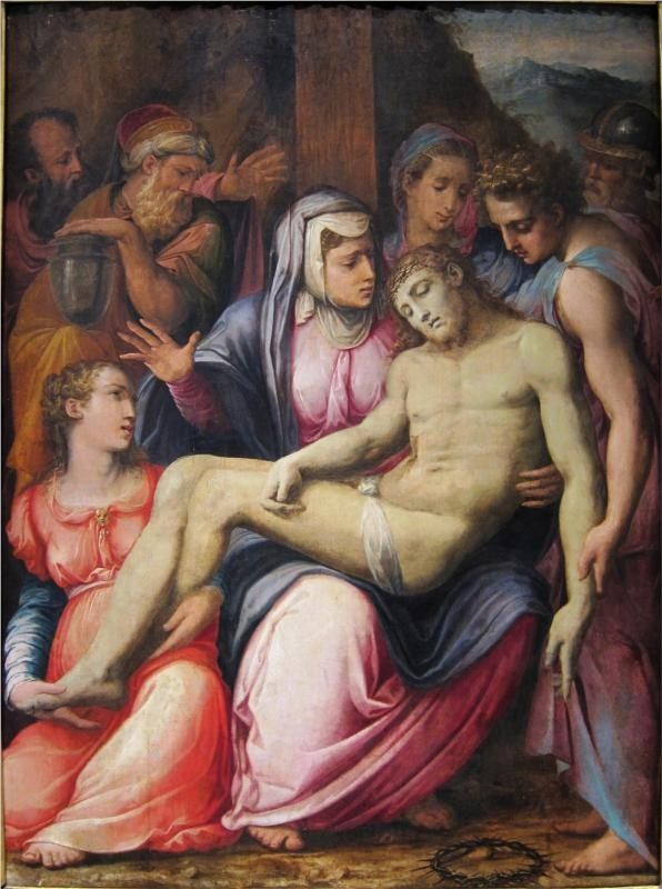 The Deposition, 1540-Giorgio Vasari - by style - Mannerism (Late Renaissance)