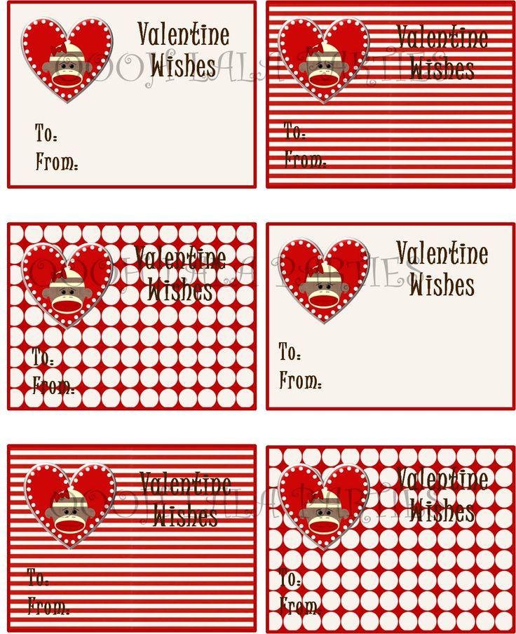 205 best images about sock monkey – Monkey Valentine Cards
