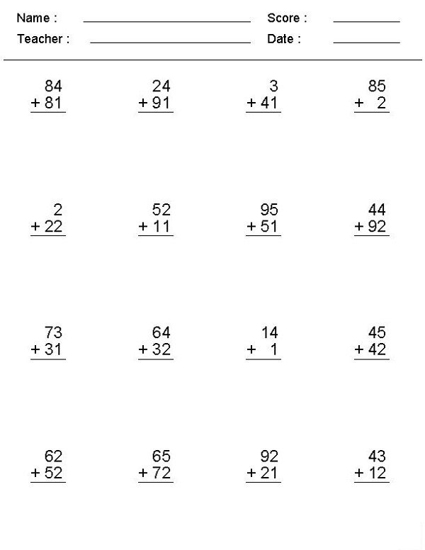 math problems online addition  learning printable  math worksheets  math problems online addition  learning printable