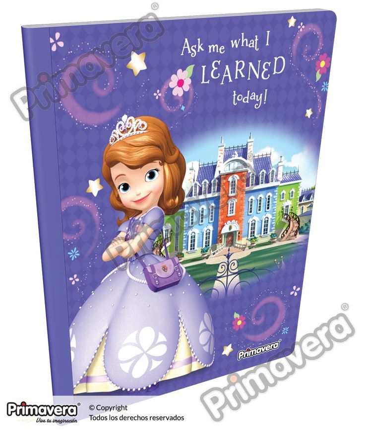 Cuaderno Cosido Infantil Princesita Sofía http://escolar.papelesprimavera.com/product/cuaderno-cosido-infantil-sofia-primavera-10/