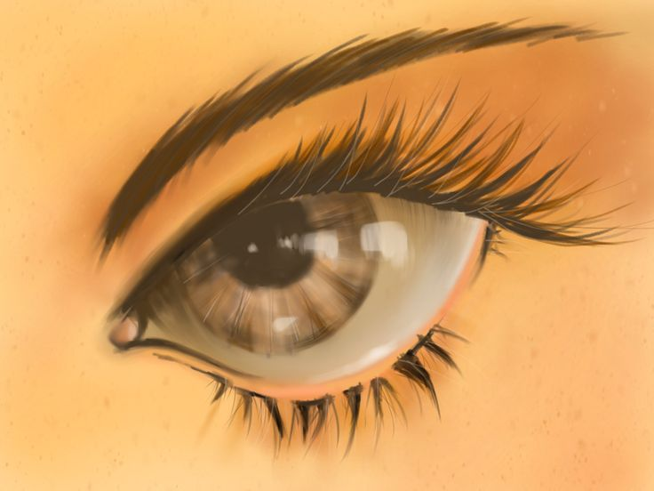 2D speed painting _ Girl eye