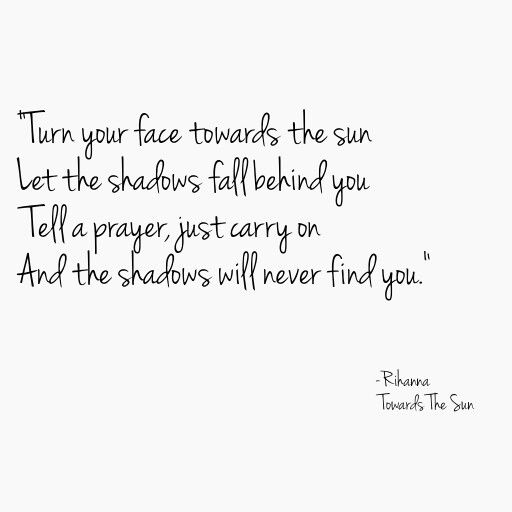 Rihanna Towards The Sun Lyrics