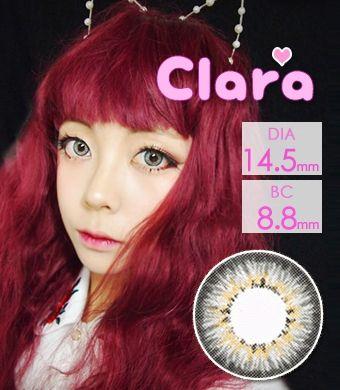 【1年カラコン】 CLARA / グレー /14.5mm  / 238