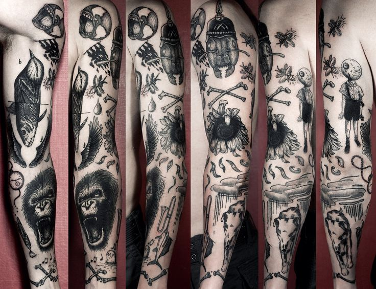 The Black Magic of Black INK… #tattoo