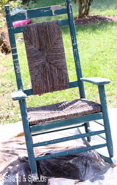 The Rescued Rocker Diy rocking chair, Wicker rocking