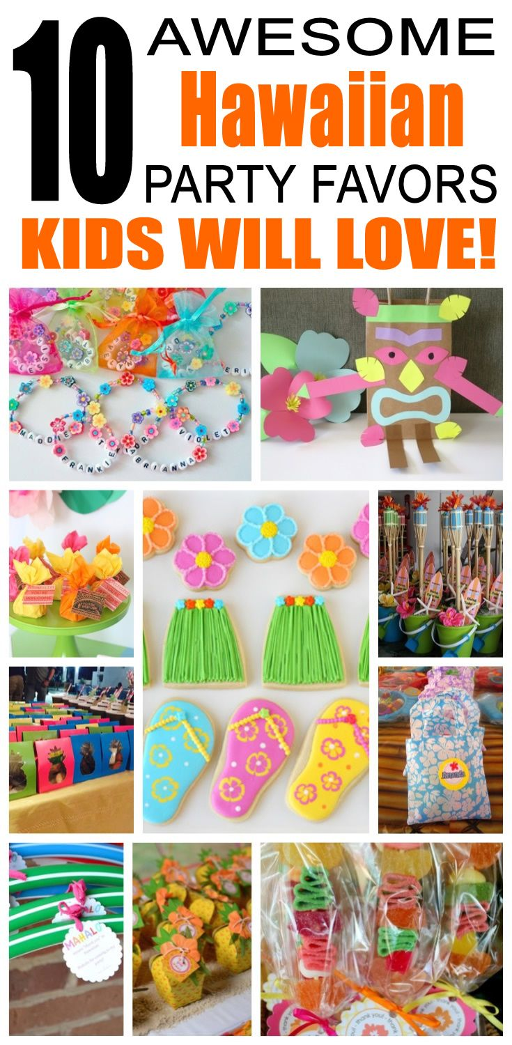 Great hawaiian party favors kids will love. Fun and cool hawaiian birthday party favor ideas for children. Easy goody bags, treat bags, gifts and more for boys and girls. Get the best hawaiian birthday party favors any child would love to take home. Loot bags, loot boxes, goodie bags, candy and more for hawaiian party celebrations.