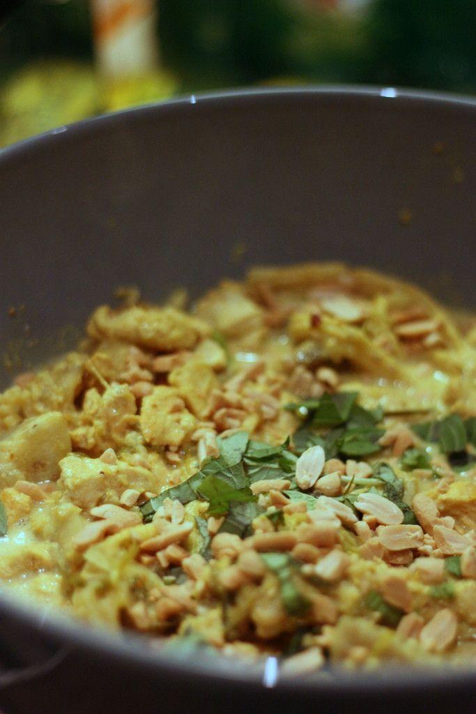 Curry de poulet thaï aux cacahuètes