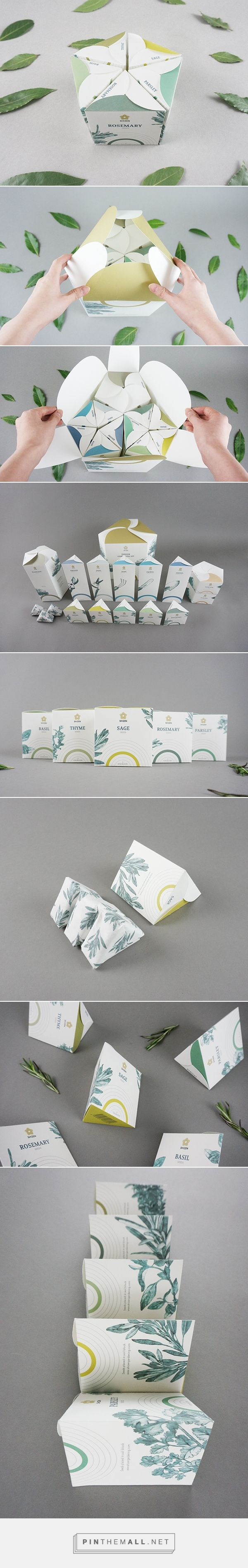SHIZEN Indoor gardening tools and seeds set packaging by In-young Bae. Pin…
