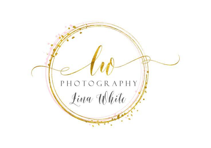 Photography logo, Custom logo design, gold confetti logo, glitter round circle dots photography logo, glitter logo photography, round logo by BrandingYou on Etsy https://www.etsy.com/uk/listing/466247975/photography-logo-custom-logo-design-gold