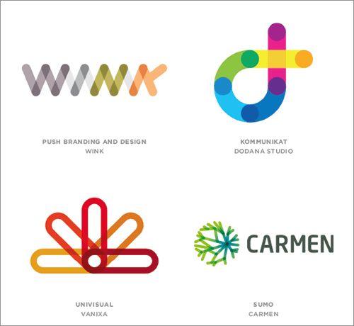 Links 複数のエレメントを繋げたロゴ。