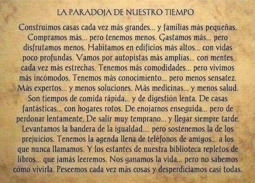 〽️La Paradoja de Nuestro Tiempo. George Carlin...