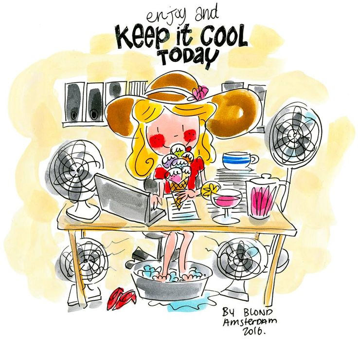 Enjoy and keep it cool today! By Blond-Amsterdam