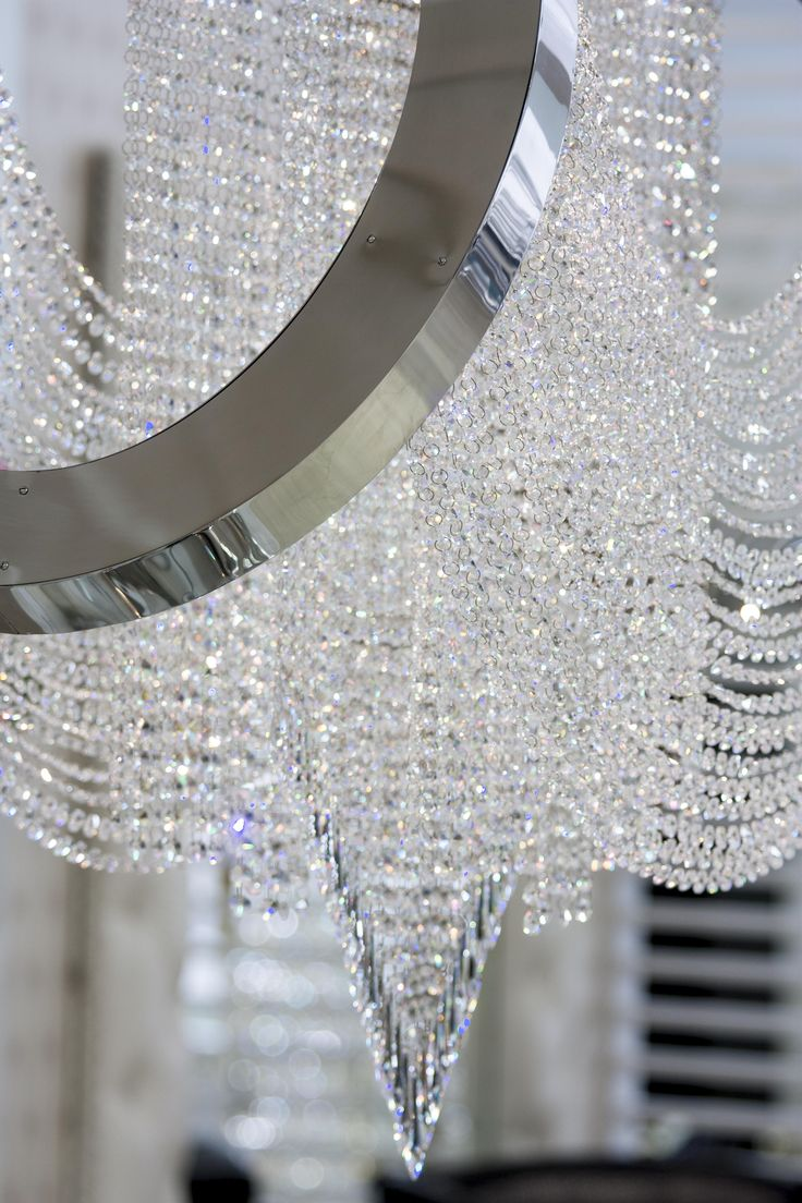 """Anelar"" Chandelier #GentleGeometry #GreenApple #GAhomestyle #homestyle #NickelPlatedBrass #Crystal #Silver #Chandelier"