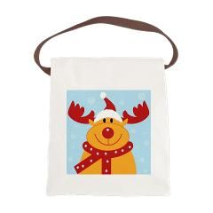 Christmas Reiindeer Canvas Lunch Bag > Christmas Reiindeer > christmas