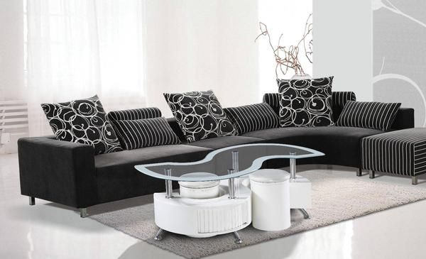 Features: - Stylish and Trendy Design Glossy S Shape Glass Coffee table with…