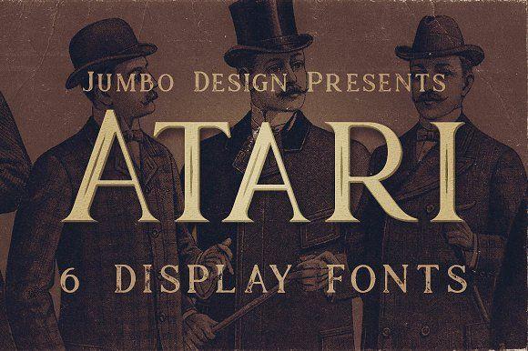 Atari - Vintage Style Font by JumboDesign on @creativemarket