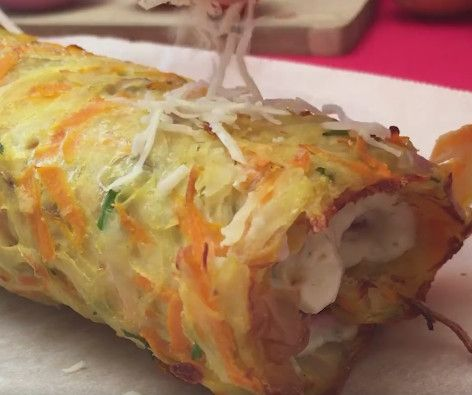 Rösti rolled in boursin & chesee