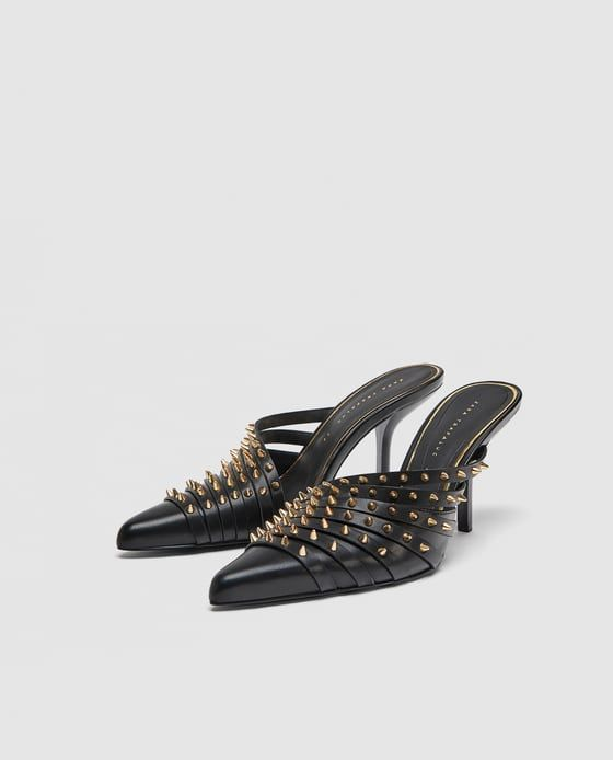 fe3e0919a18 Image 7 of STUDDED HIGH HEEL MULES from Zara | Shoes, Shoes Shoes. I ...