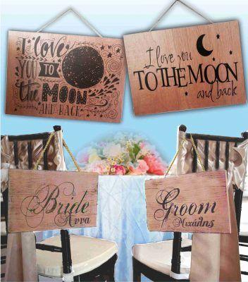 Ξύλινες Πινακίδες - ταμπέλες για τη δεξίωση του γάμου ή της εκκλησίας με όποιο σχέδιο θέλετε - wooden boards for wedding reception or church