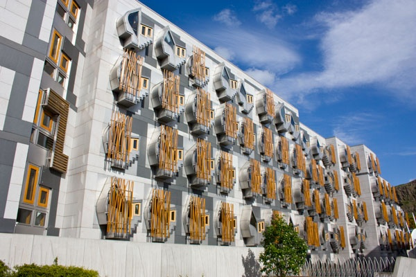 The Scottish Parliament in Edinburgh, Scotland. Built by the late Enric Miralles and his amazing wife, Benedetta Tagliabue