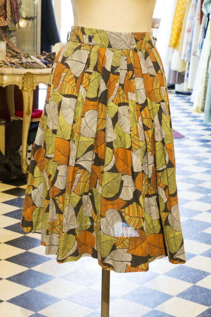 Cabaret Vintage - Women's Vintage Leaf Skirt, $125.00 (http://www.cabaretvintage.com/dresses/vintage-skirts/womens-vintage-leaf-skirt/)  #vintageskirt  #vintage #dressvintage #shopping #vintagestore #vintagefashion #ilovevintage #vintagelove #vintagegirl #vintageshopping #vintageclothing #vintagefinds #vintagelover #vintagelook #followme #skirtoftheday #ootd #shopitrightnow #instastyle #torontovintage #toronto #queenwest #cabaretvintage