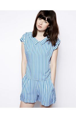 Pop Boutique Stripe Blouse with Collar | Stylista.dk