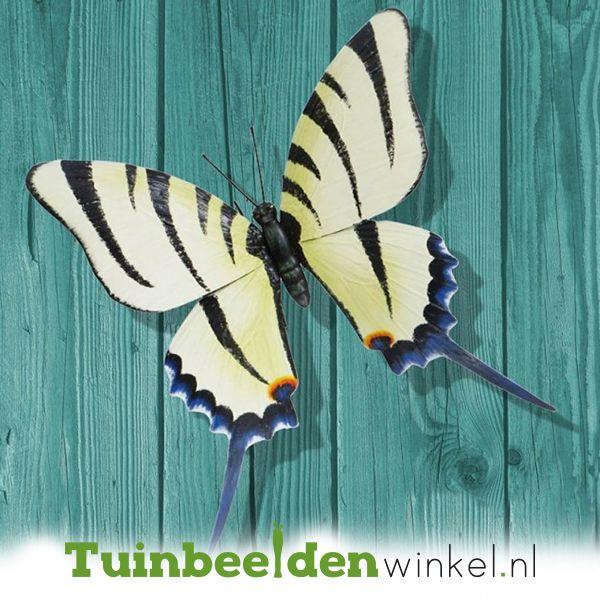 Grote Metalen Vlinder 2 Tbw0871pr74 Vlinders Metaal Tuin Decoratie