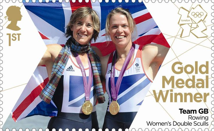 Team GB Gold Medal Winners 1st Stamp (2012) Rowing: Women's Double Sculls - Team GB Gold Medal Winners