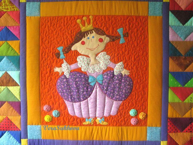 """Купить Лоскутное покрывало """"Принцесса Александра"""" - лоскутное покрывало, покрывало, детское покрывало, покрывало пэчворк"""