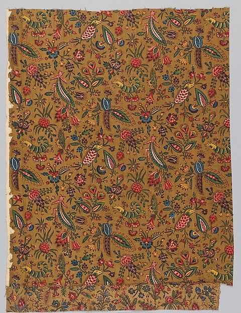 """""""Les Coquecigrues"""" Manufactory: Oberkampf Manufactory (French, active 1760–1843) Date: ca. 1785 Culture: French, Jouy-en-Josas Medium: Cotton Dimensions: L. 29 3/4 x W. 27 3/4 inches 75.6 x 70.5 cm Classification: Textiles-Printed Credit Line: Rogers Fund, 1927 Accession Number: 27.195.3"""