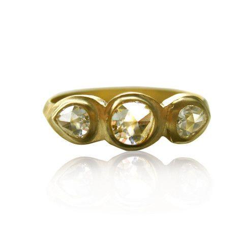 Triple diamonds ring by Natalie Frigo.