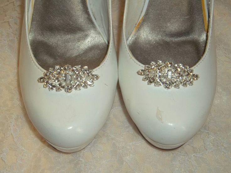Rhinestone Shoe Clips, Bridal Shoe Clips, Crystal Shoe Clips, Wedding Shoe Clips, SHoe Clips Ons, SIlver SHoe Clips, Clips for Bridal Heels by ShoeClipsOnly on Etsy