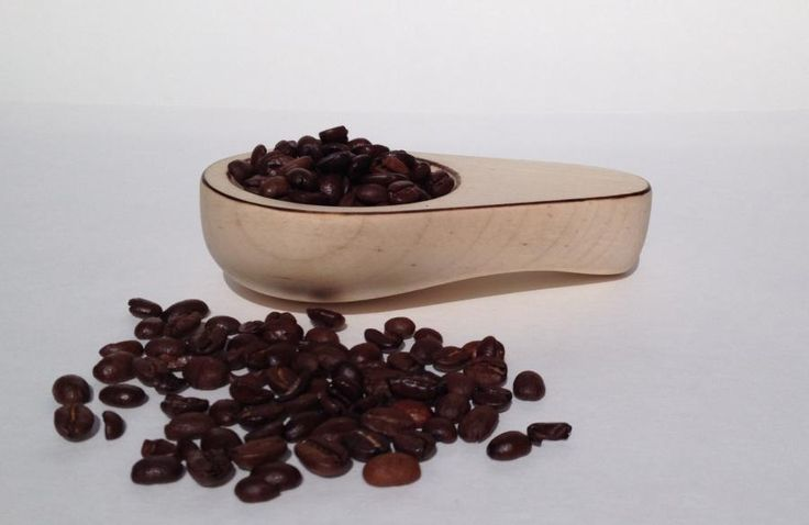 Hard maple coffee scoop with burnt edge highlights by Thomas